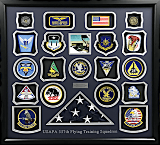 USAFA 557th Flying  Training Squadron Shadowbox Display Frame
