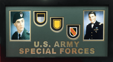 U.S. Army Special Forces Flash and Photo Display Frame