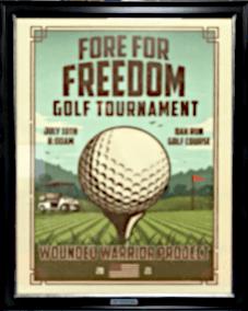 Golf Tournament Poster Frame