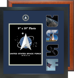 """15"""" x 16"""" Space Force Photo Font Frame"""