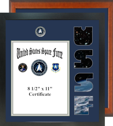 """15"""" x 16"""" Space Force Certificate Photo Font Frame"""