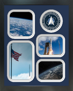 """11"""" x 14"""" United States Space Force 4 Photo Collage w/ Seal-Vertical"""