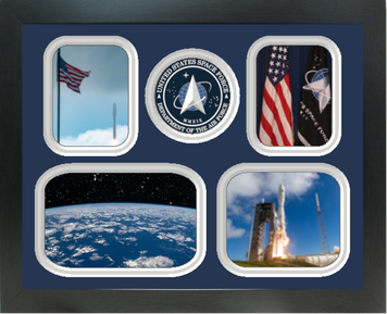 """11"""" x 14"""" United States Space Force 4 Photo Collage w/ Seal-Horizontal"""