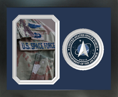 """8"""" x 10"""" United States Space Force Photo Frame w/ Seal"""