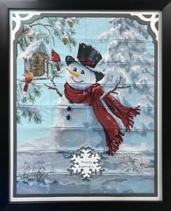 Happy Snowman Frame