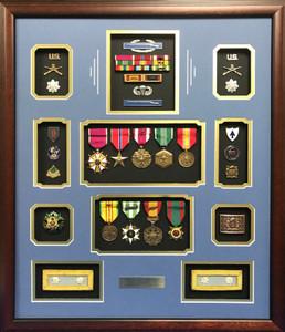 US Army Infantry LTC Shadow Box Display