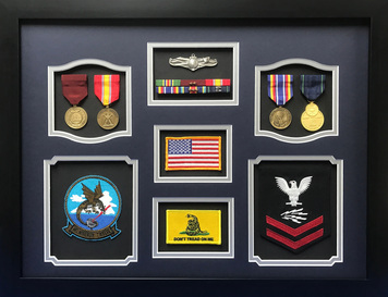 US Navy Don't Tread on Me Shadow Box Display Frame