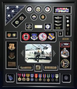 US Air Force Flight Surgeon Shadow Box Display Frame