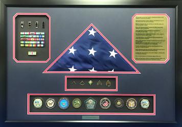 Warrant Officer Shadow Box Display Frame