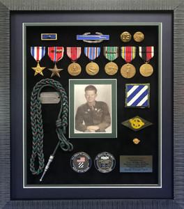 World War II Infantry Shadow Box Display Frame