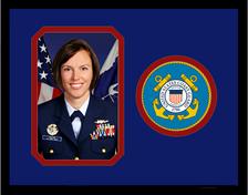 """8"""" x 10"""" United States Coast Guard Photo Frame w/ Seal"""