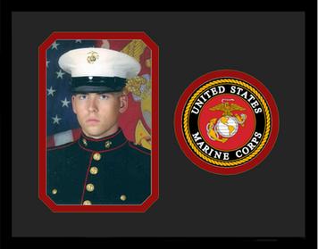 "8"" x 10"" United States Marine Corps Photo Frame w/ Seal"