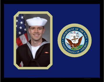 "8"" x 10"" United States Navy Photo Frame w/ Seal"