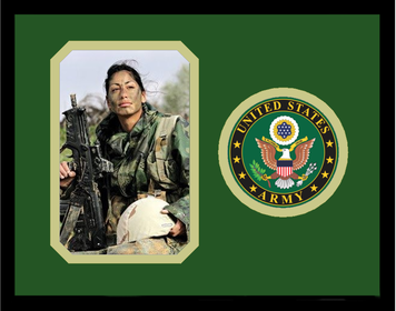 "8"" x 10"" United States Army Photo Frame w/ Seal"
