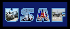 """8"""" x 20"""" United States Air Force Photo Font Picture Frame"""
