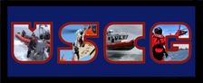 "8"" x 20"" United States Coast Guard Photo Font Picture Frame"