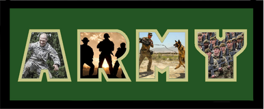 """8"""" x 20"""" United States Army Photo Font Picture Frame"""