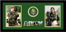 """10"""" x 20"""" United States Army Double Photo Frame w/ Seal"""
