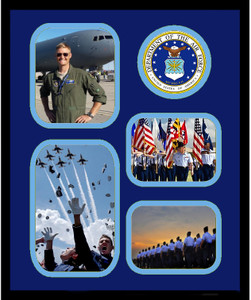"11"" x 14"" United States Air Force 4 Photo Collage w/ Seal-Vertical"