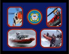 "11"" x 14"" United States Coast Guard 4 Photo Collage w/ Seal-Horizontal"
