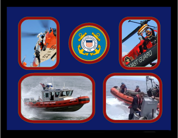 "11"" x 14"" United States Coast Guard 4 Photo Collage w/ Seal-Horizontal"
