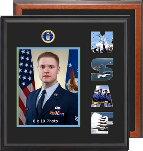 "15"" x 16"" Air Force Photo Font Frame"