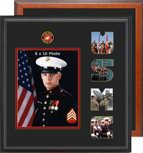 "15"" x 16"" Marine Corps Photo Font Frame"