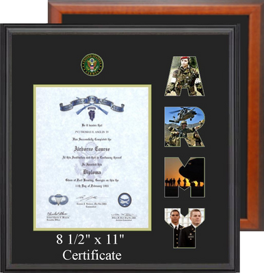 """15"""" x 16"""" Marine Corps Certificate Photo Font Frame"""
