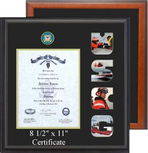 "15"" x 16"" Coast Guard Certificate Photo Font Frame"