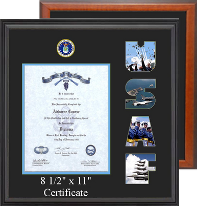"""15"""" x 16"""" Air Force Certificate Photo Font Frame"""