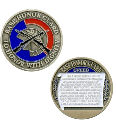 Air Force Challenge Coin Base Honor Guard