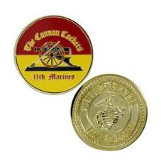 Marine Corps Challenge Coin 11th Marines Cannon Cockers