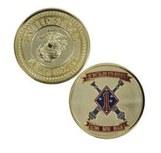 Marine Corps Challenge Coin 1st Battalion 11th Marines