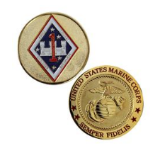 Marine Corps Challenge Coin 1st Combat Engineer