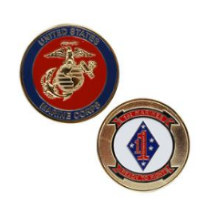 Marine Corps Challenge Coin 1st Marines Ready to Fight