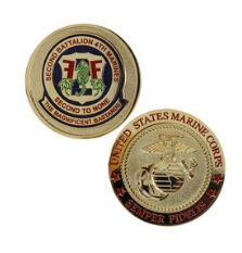 Marine Corps Challenge Coin 2nd Battalion 4th Marines