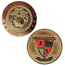 Marine Corps Challenge Coin 3rd Battalion 5th Marines