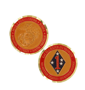 Marine Corps Challenge Coin First Marine Division