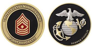 Marine Corps Challenge Coin First Sergeant