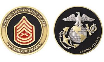 Marine Corps Challenge Coin Gunnery Sergeant