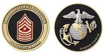 Marine Corps Challenge Coin Sergeant Major