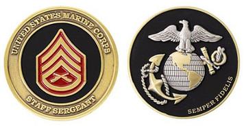 Marine Corps Challenge Coin Staff Sergeant