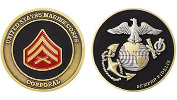 Marine Corps Challenge Coin Corporal