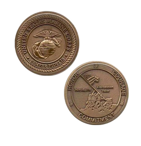Marine Corps Challenge Coin Honor Courage Commitment