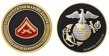 Marine Corps Challenge Coin Lance Corporal