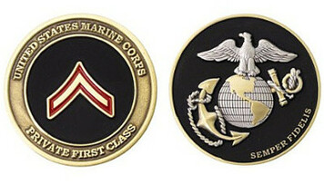 Marine Corps Challenge Coin Private First Class