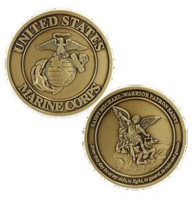 Marine Corps Challenge Coin Saint Michael