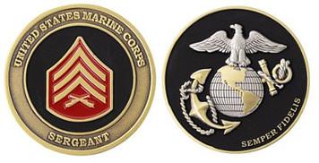 Marine Corps Challenge Coin Sergeant