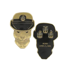 """Navy  Challenge Coin Female Chief Petty Officer Skull 2"""""""