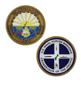 Navy Challenge Coin Naval Base Guam